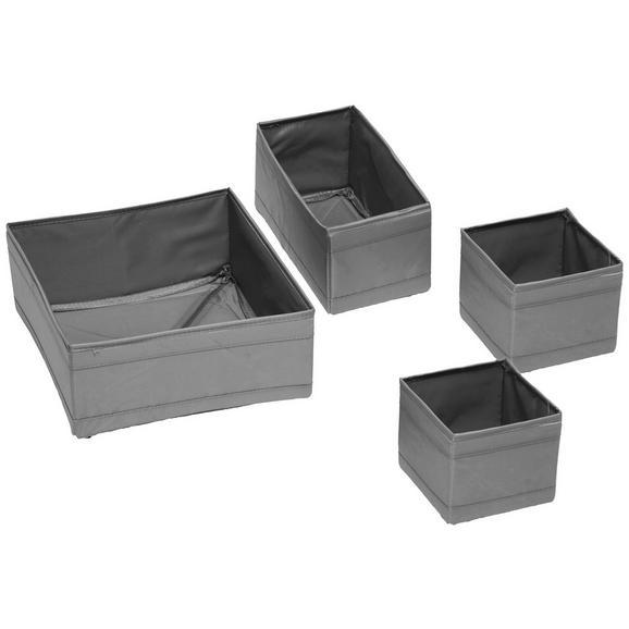 Aufbewahrungsboxen-Set Tina in Grau, 4-teilig - Grau, Textil (28/28cm) - Mömax modern living