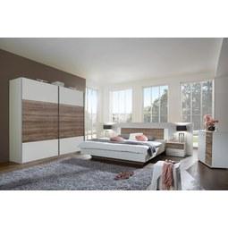 Spalnica Franziska - bela/hrast, Moderno, leseni material (518/210/210cm) - Mömax modern living