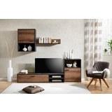 Dnevni Regal Nice - črna/hrast, umetna masa/leseni material (220/180/40cm) - Modern Living