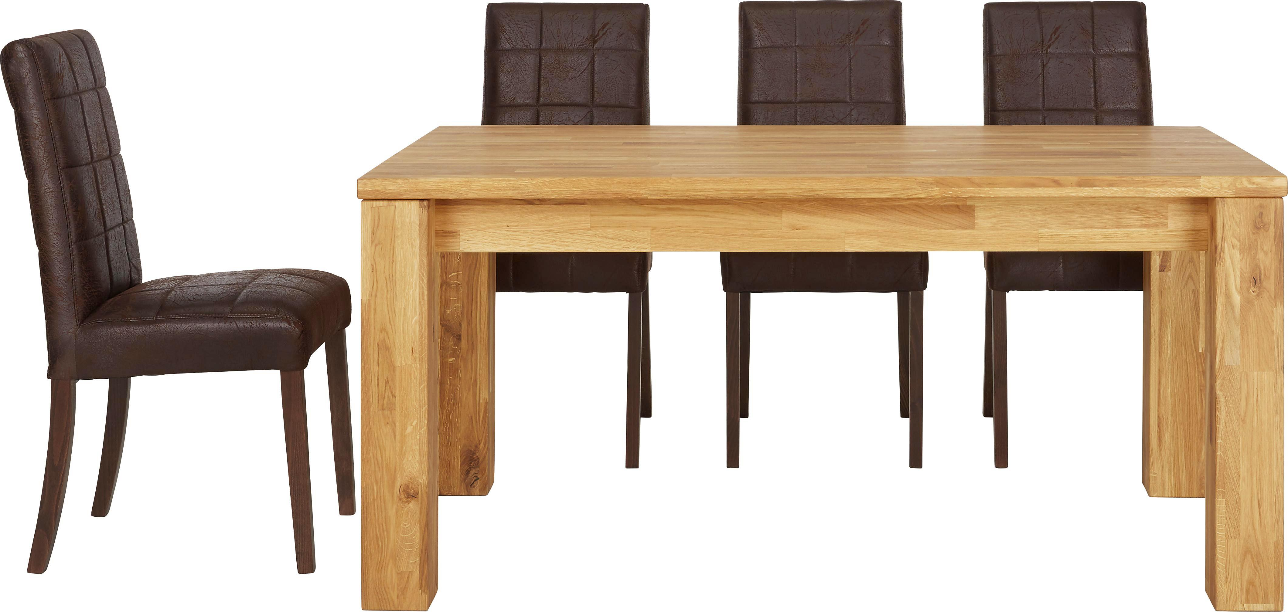 Kihúzható Asztal Cesar - tölgy színű, modern, fa (160/75,5/90cm) - ZANDIARA