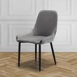 STUHL Enna - Grau, MODERN, Textil/Metall (48/85/58cm) - Mömax modern living