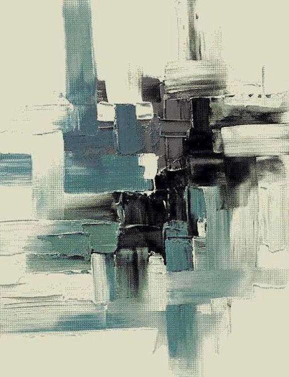 Webteppich Abstract ca. 80x150cm - Blau/Schwarz, LIFESTYLE, Textil (80/150cm) - Mömax modern living