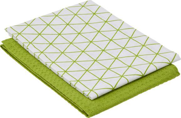 Geschirrtuch Kathi ca. 50x70cm - Grün, Textil (50/70cm) - MÖMAX modern living