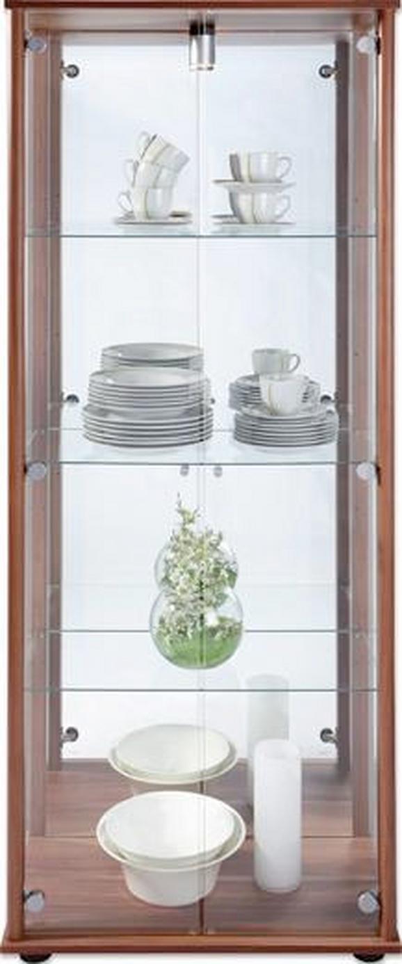 Vitrine Eichefarben - Eichefarben/Silberfarben, Glas/Holzwerkstoff (68/171/36cm) - Mömax modern living