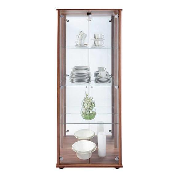 Vitrine in Eichefarben - Eichefarben/Silberfarben, Glas/Holzwerkstoff (68/171/36cm) - Mömax modern living