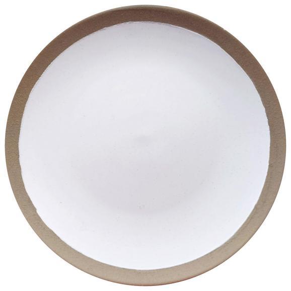 Farfurie Desert Emilia - alb, Romantik / Landhaus, ceramică (21cm) - Zandiara