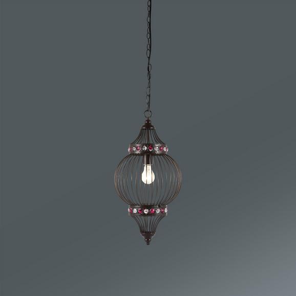 Hängeleuchte Ringo max. 1x60 Watt - Bernsteinfarben/Schwarz, LIFESTYLE, Metall (27/110cm) - Mömax modern living