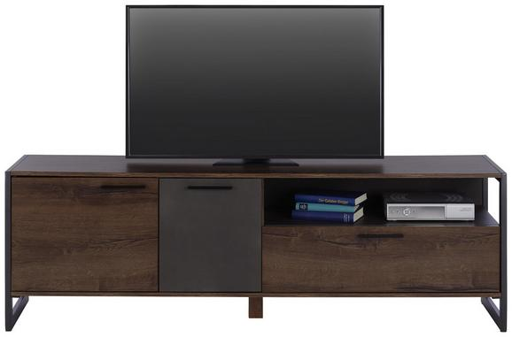 Tv Element Steel - boje hrasta/smeđa, Lifestyle, drvni materijal/metal (168/55/40cm) - Modern Living