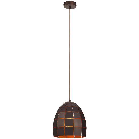 Hängeleuchte Daria max. 40 Watt - Braun, LIFESTYLE, Metall (24/150cm) - Premium Living
