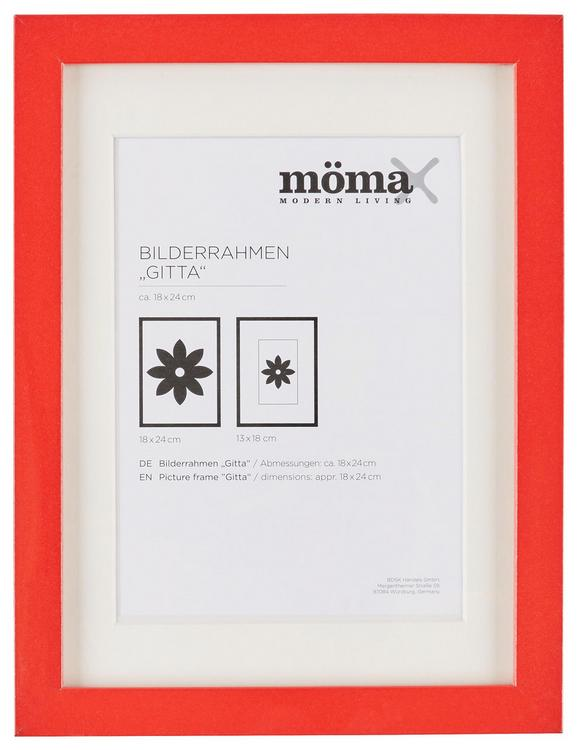 Bilderrahmen Gitta, ca. 18x24cm - Rot, Glas/Holzwerkstoff (18/24cm) - MÖMAX modern living
