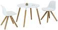 Otroška Mizica Child - naravna/bela, Moderno, leseni material/les (60/51/60cm)