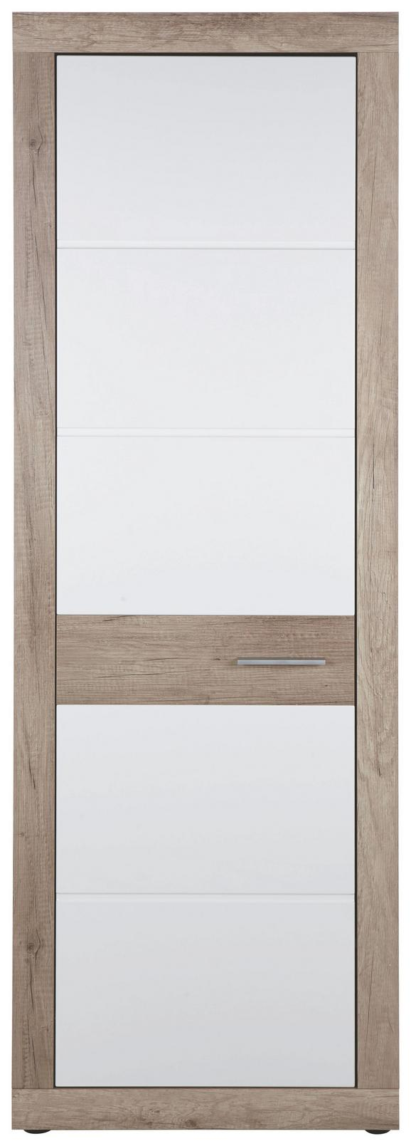 Kleiderschrank in Weiß - Chromfarben/Weiß, MODERN, Kunststoff (65/197/36cm) - Mömax modern living