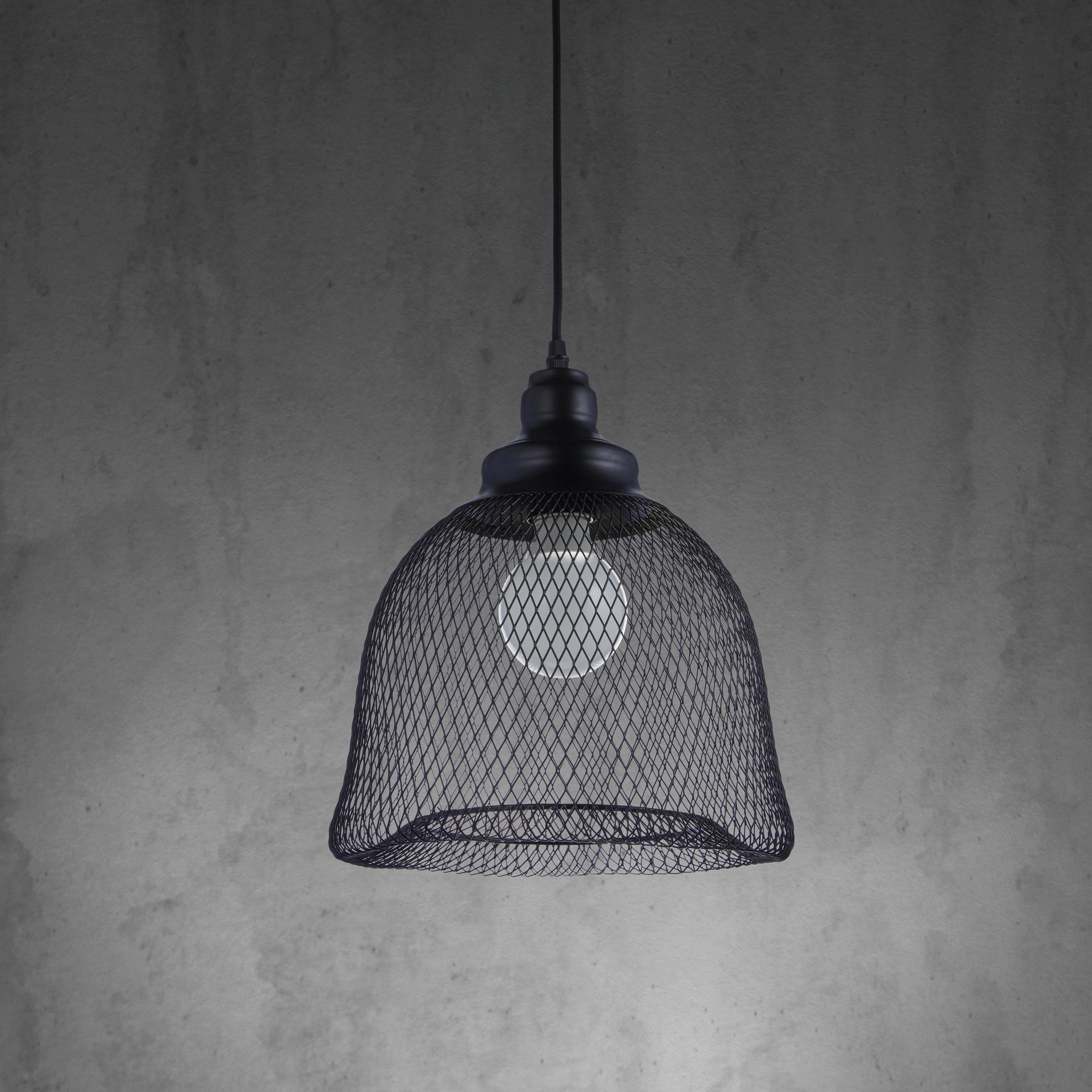 Hängeleuchte Tiaga - Schwarz, MODERN, Metall (29/120cm) - MÖMAX modern living