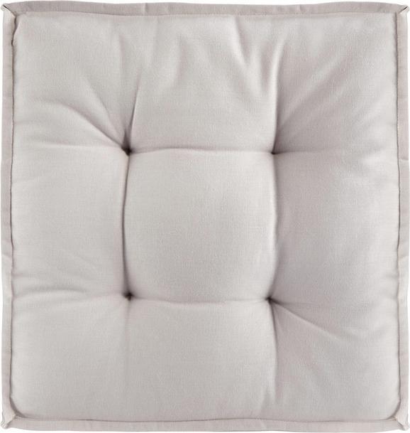 Boxkissen Solid, ca. 40x40x5cm - Hellgrau, Textil (40/40/5cm) - Mömax modern living