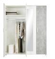 Drehtürenschrank Weiß - Alufarben/Weiß, KONVENTIONELL, Holzwerkstoff/Kunststoff (180/210/58cm) - Modern Living
