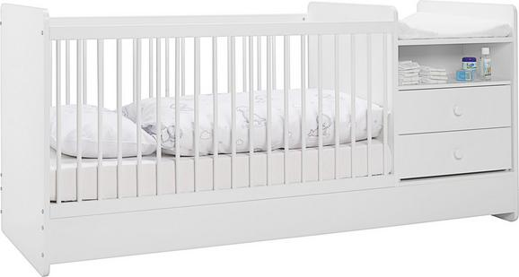 Gitterbett in Weiß, ca. 70x140cm - Weiß, MODERN, Holzwerkstoff (104,4/95/75cm) - Premium Living