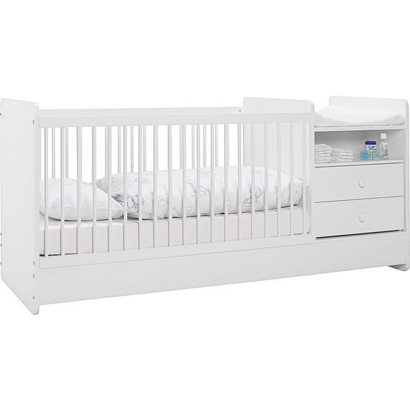 Gitterbett in Weiß ca. 70x140cm - Weiß, MODERN, Holzwerkstoff (204,4/95/75cm) - Premium Living