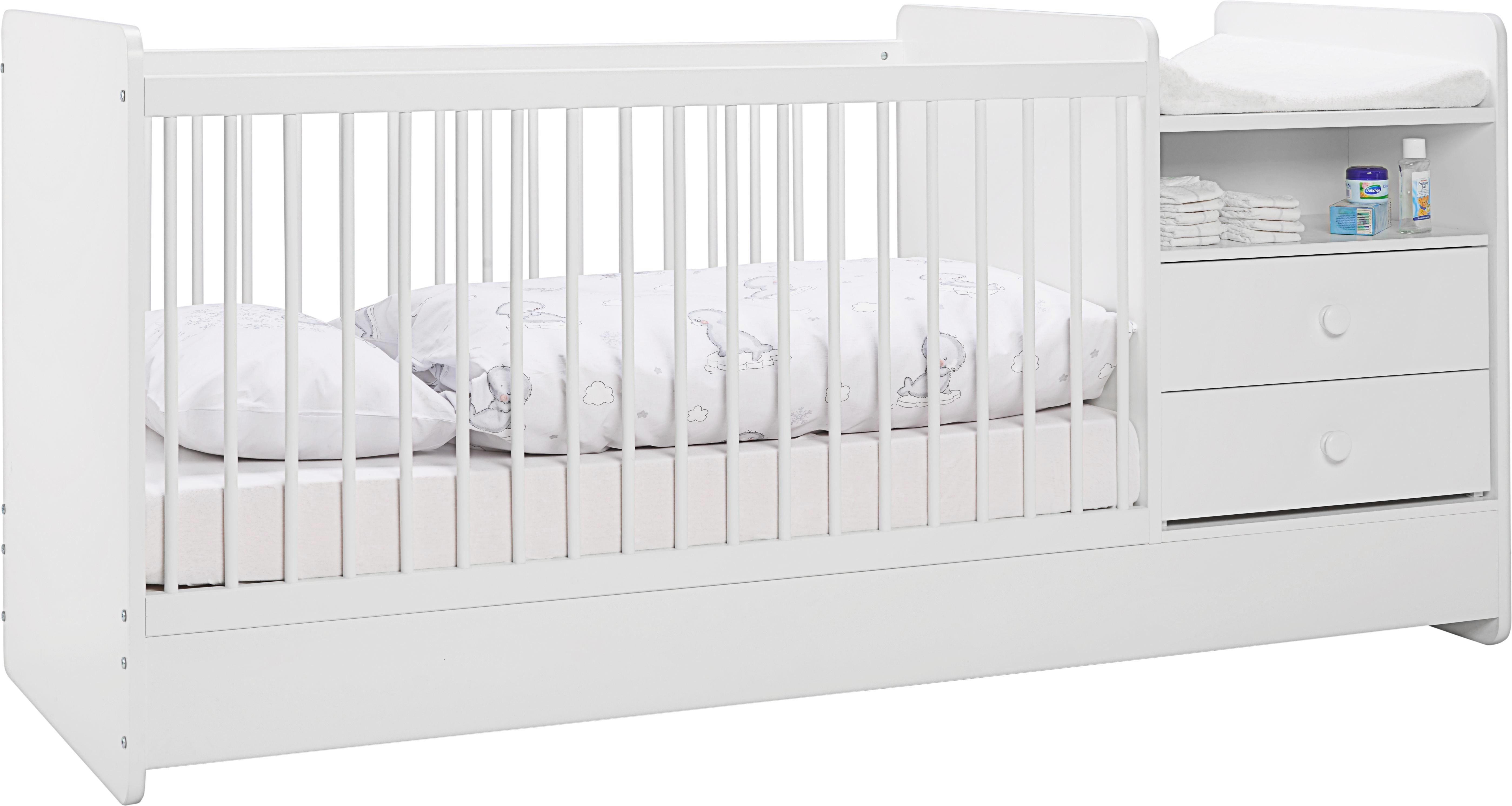 Gyerek-/junior Ágy Kit - fehér, modern, faanyagok (104,4/95/75cm) - premium living
