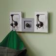 Garderobe Ivy - Weiß/Grau, MODERN, Holz/Metall (36/18/11cm) - Modern Living