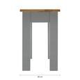 SITZBANK aus Massivholz 'Maxi' - Grau, MODERN, Holz (108/46/30cm) - Modern Living