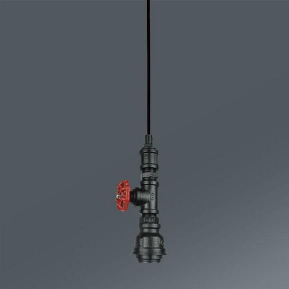 Viseča Svetilka Ian - rdeča/črna, Trendi, kovina (8/124cm) - Mömax modern living