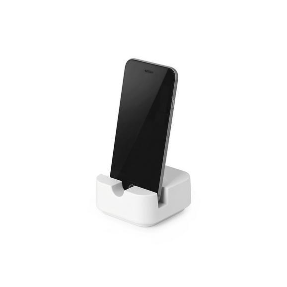 Mobiltartó Lilo - Fehér, modern, Műanyag (7,77/7,77/3,81cm) - Mömax modern living