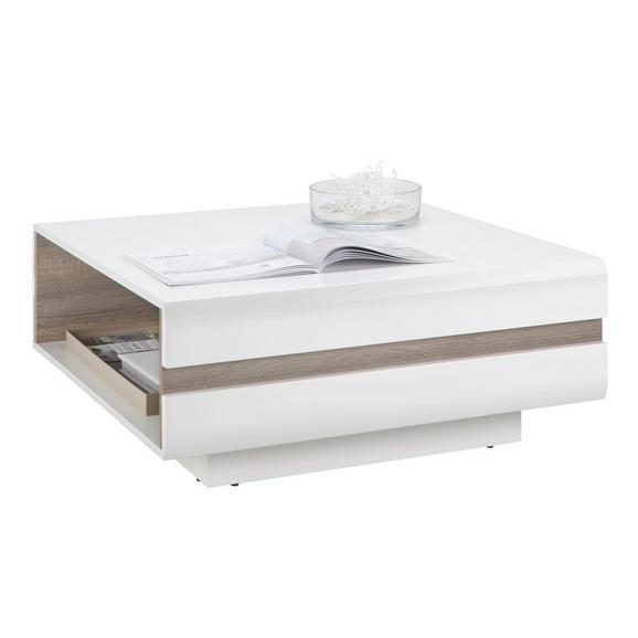 Klubska Miza Linate - bela/hrast tartuf, Moderno, leseni material (90/38/90cm) - Mömax modern living