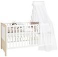 Gitterbett Weiß/Naturfarben - KONVENTIONELL, Holzwerkstoff (140/70cm) - Premium Living