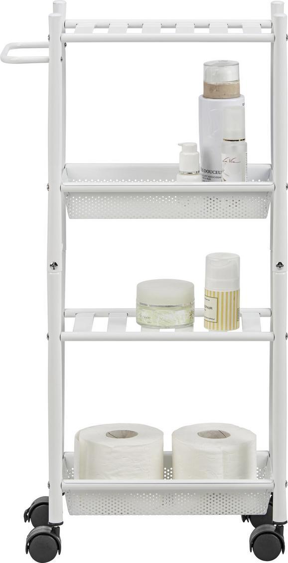 Beistellregal in Weiß mit 2 Fächer - Weiß, Kunststoff/Metall (39,50/75/16cm) - MÖMAX modern living