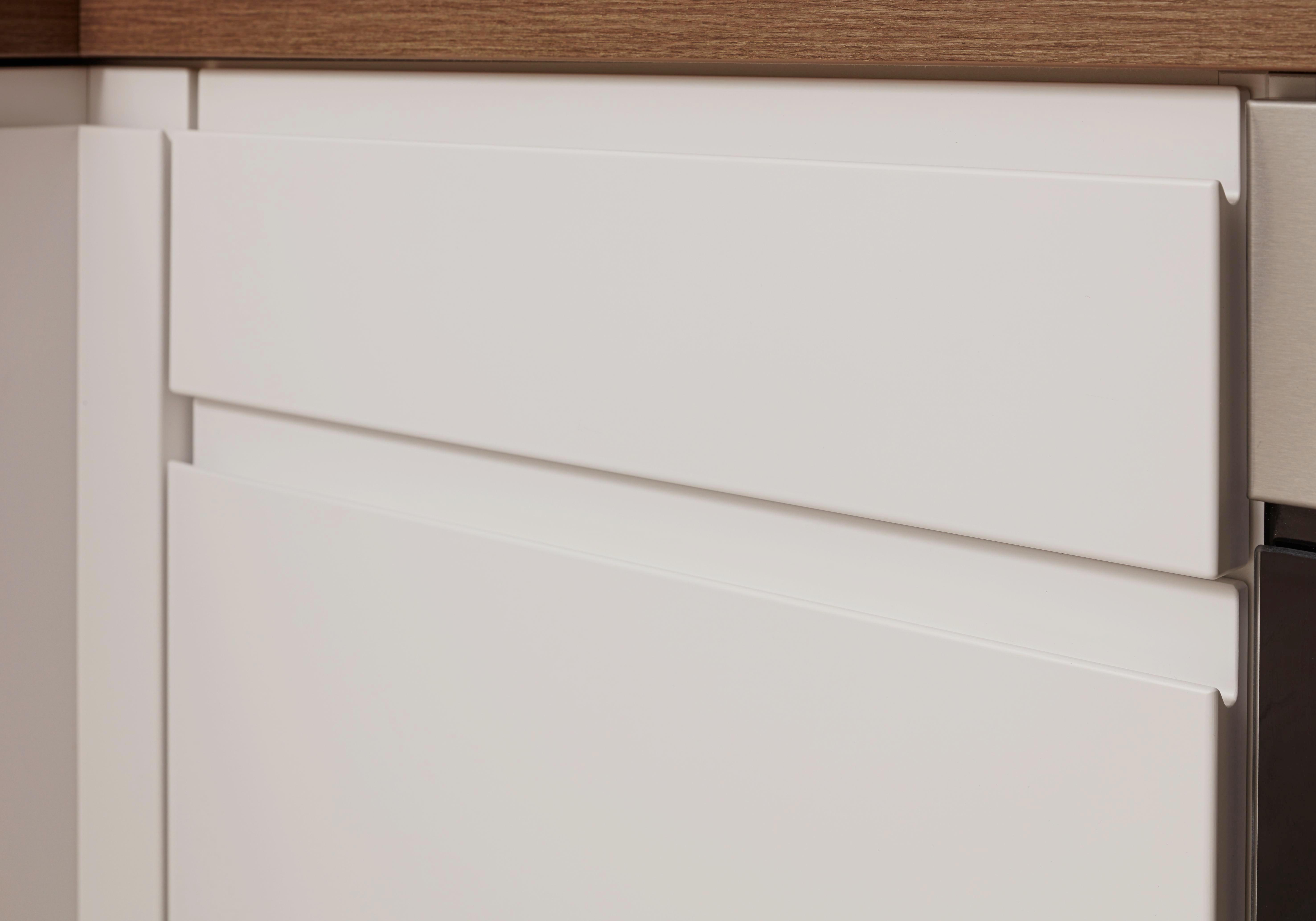 Eckküche Inline - Weiß (177/268cm)