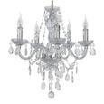 VISEČA SVETILKA ISABELLA - temno siva/krom, Romantika, kovina/umetna masa (149cm) - Mömax modern living