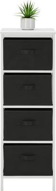 Kommode Weiß/Anthrazit - Anthrazit/Weiß, MODERN, Holz/Textil (37/103/30cm) - Mömax modern living