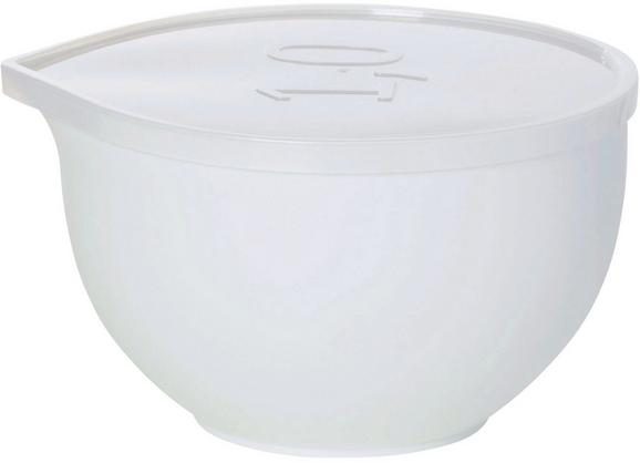 Keverőtál Tetővel Kaija - áttetsző/fehér, műanyag (1,0l) - MÖMAX modern living