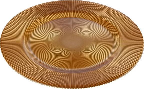 Platzteller Doris - Goldfarben, Glas (34/1,5cm) - MÖMAX modern living