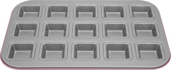 Fingerfood-form Penny in Silber/grau - Silberfarben/Rosa, Metall (38,5/35/3cm)