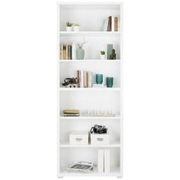 Regal in Weiß - Silberfarben/Weiß, MODERN, Holzwerkstoff (80/218/36cm)