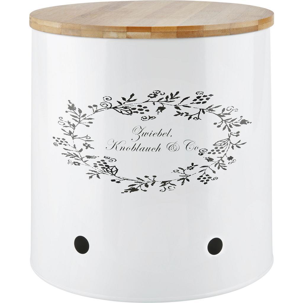 Box mit Deckel Lore in Weiß