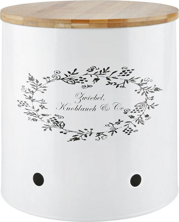Box mit Deckel Lore in Weiß - Weiß, ROMANTIK / LANDHAUS, Holz/Metall (22/22cm) - ZANDIARA