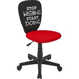 Vrtljivi Stol Start - rdeča/črna, Moderno, kovina/umetna masa (40/75-85/48cm) - Mömax modern living