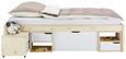 Bett Natur/Weiß 90x200cm - Naturfarben/Weiß, MODERN, Holz (209/96/48cm) - Zandiara