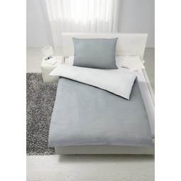 Bettwäsche Nadelstreif Wende, Ca. 140x200   Weiß/Grau, MODERN, Textil (