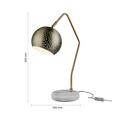 Tischleuchte max. 60 Watt 'Claudie' - Weiß/Bronzefarben, MODERN, Metall (55cm) - Bessagi Home