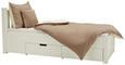 Bett in Weiß ca. 90x200cm - Weiß, ROMANTIK / LANDHAUS, Holz/Holzwerkstoff (90/200cm) - Zandiara