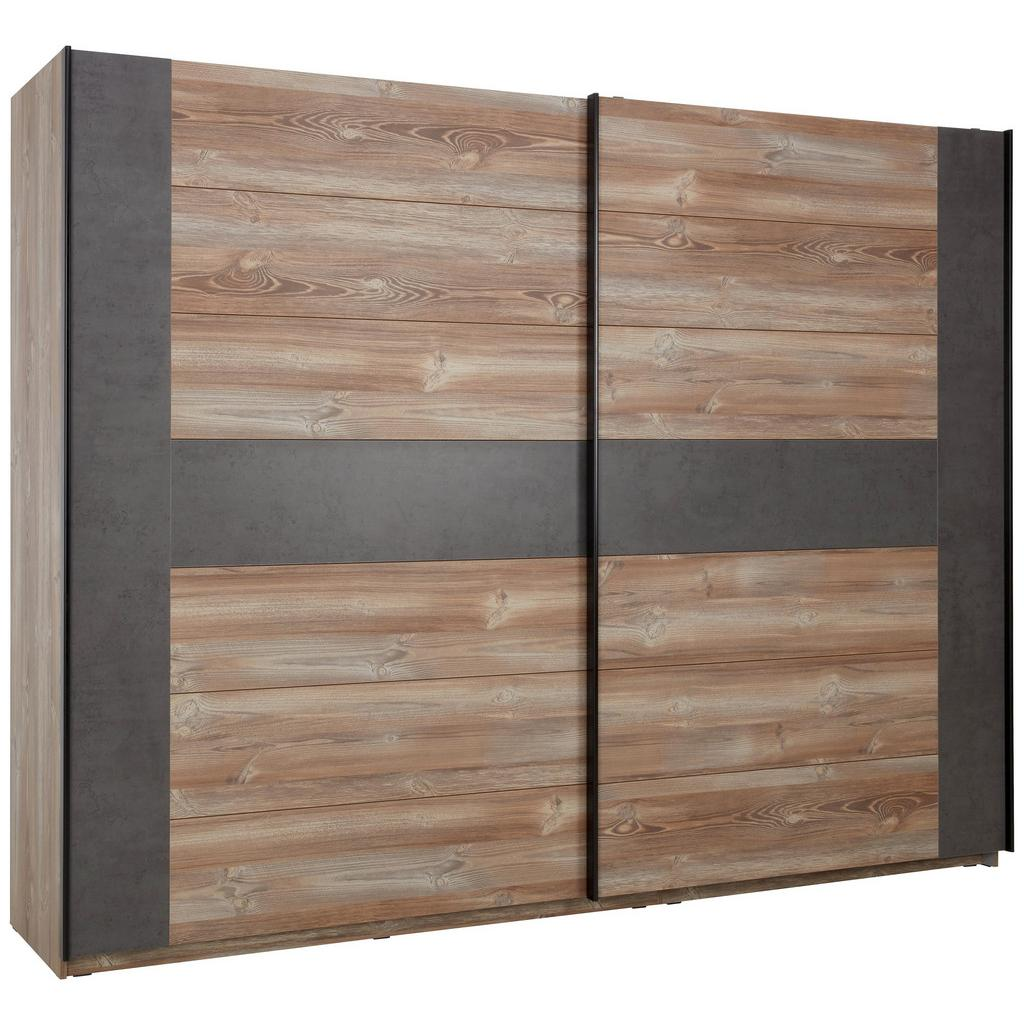 Schwebetürenschrank Kieferfarben/Beton