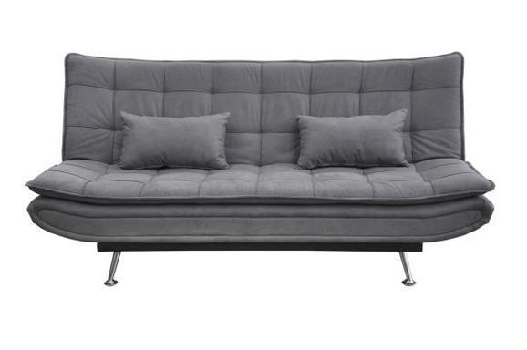 SCHLAFSOFA Grau - Silberfarben/Grau, MODERN, Holz/Textil (196/98/92cm) - Modern Living