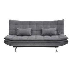 Schlafsofa in Grau - Silberfarben/Grau, MODERN, Holz/Textil (196/98/92cm) - Modern Living