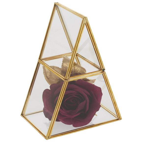 Dekorativna Škatla Adriana - zlata/prozorna, kovina/steklo (15/10/20cm) - Modern Living