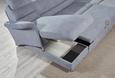 Funkcijska Sedežna Garnitura Belluno Sky - siva/črna, Moderno, kovina/umetna masa (165/334/244cm) - Premium Living