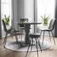 Stol Lisa - siva/antracit, Trendi, kovina/tekstil (44,5/88,5/54cm) - Modern Living