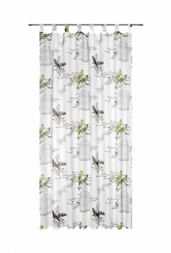 Zavesa Z Zankami Romana - zelena, Romantika, tekstil (140/245cm) - Mömax modern living